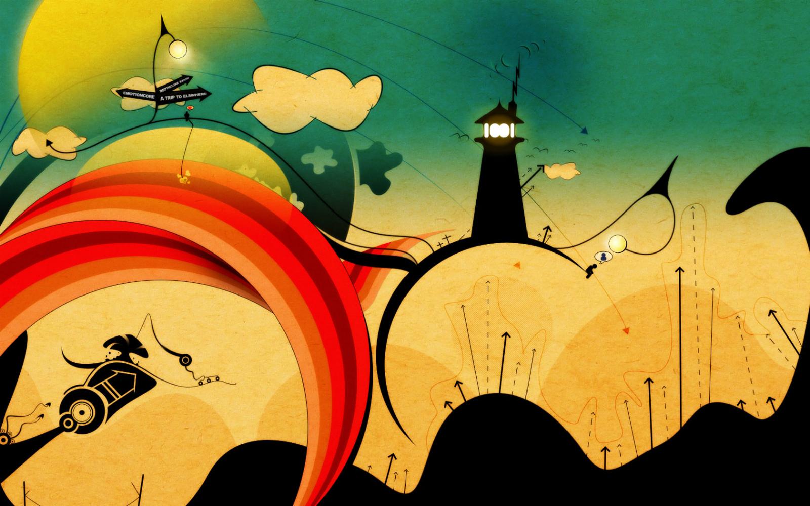 abstract art wallpaper cartoon - photo #22