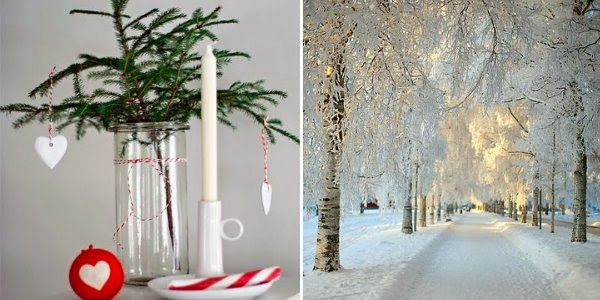 holiday mood board snow christmas danish