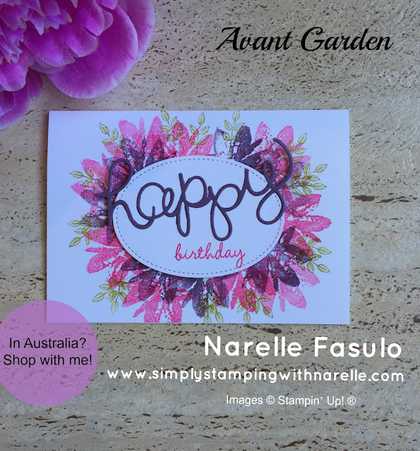 Avant Garden - Sale-A-Bration - Simply Stamping with Narelle - shop here - https://goo.gl/D69yPw