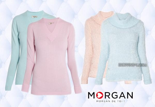 Pull pastel rose, bleu ou mauve MORGAN