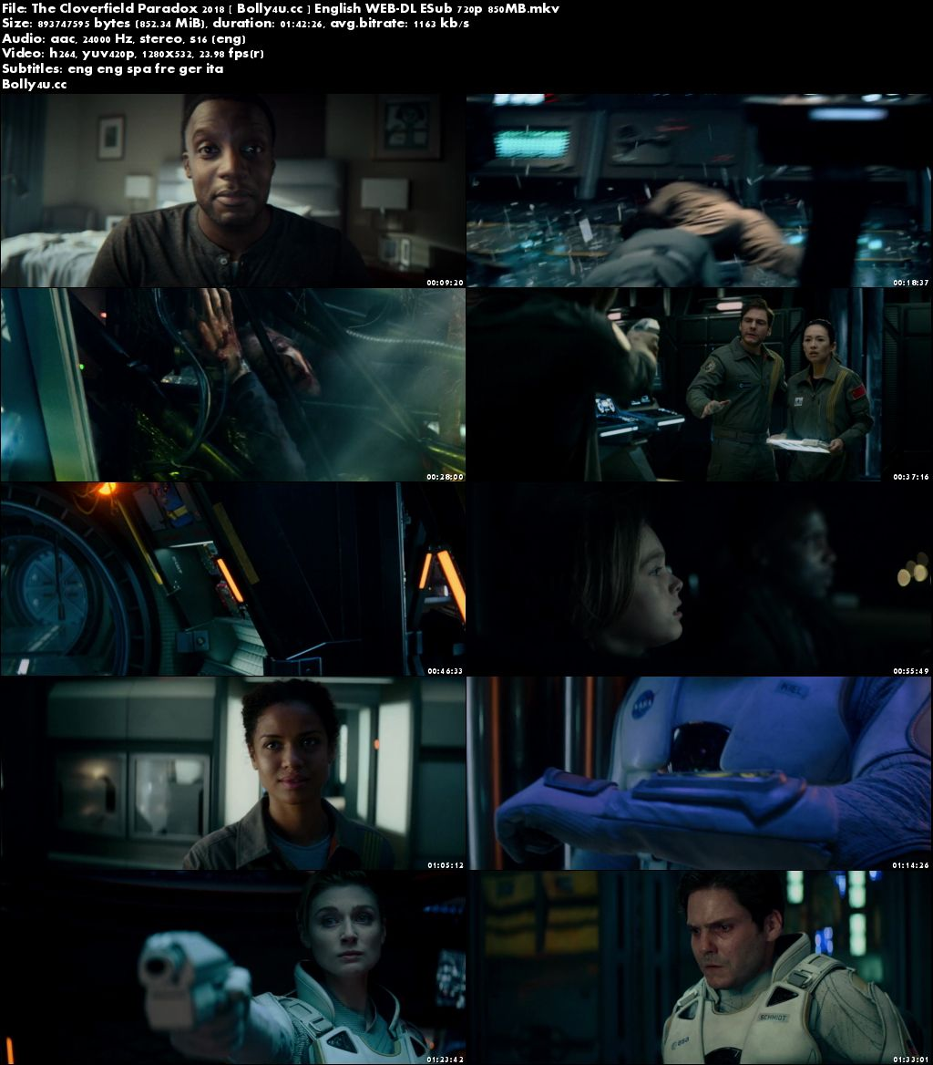 The Cloverfield Paradox 2018 WEB-DL 850MB English 720p ESub Download