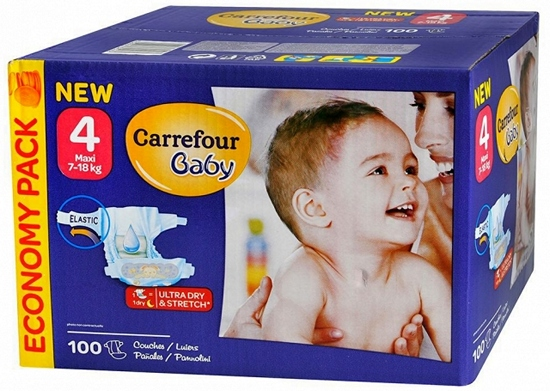 Pañales Carrefour Baby Talla 4