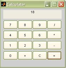 Simple GUI Calculator in MATLAB | IMAGE PROCESSING