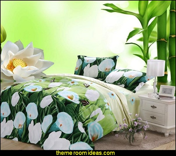 flower bedding Calla Lily Print 4 Piece Bedding Sets