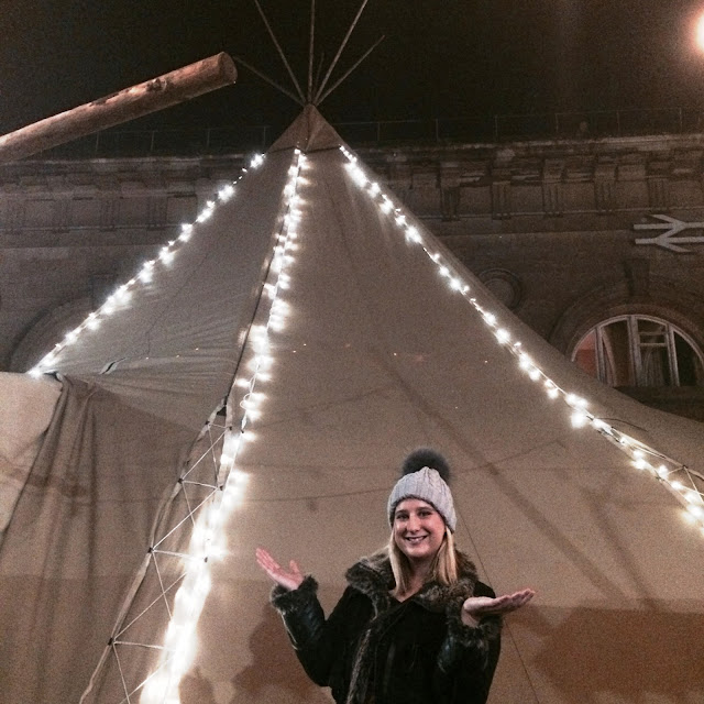 Rachel Sweeney as Hadrian's tipi pop-up opens in newcastle for the festive period
