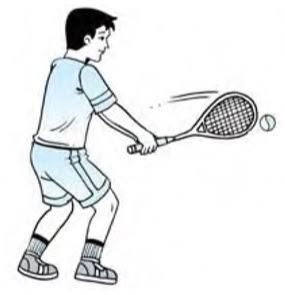 Backhand drive tenis lapangan