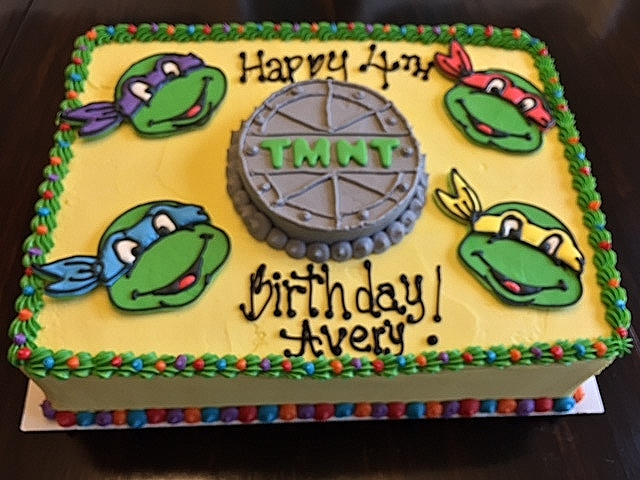 Teenage Mutant Ninja Turtles Sheet Cake My Sweet Favorites