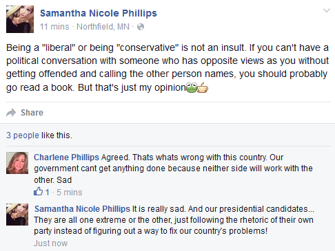 go read a book liberal conservative are not insults