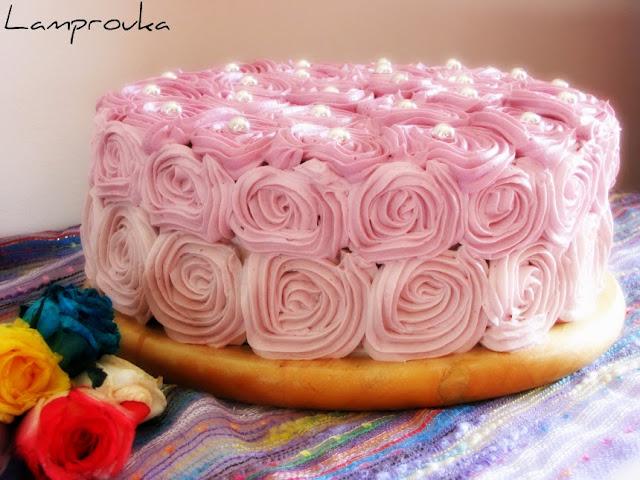 Φτιάξε μια εντυπωσιακή τούρτα με τριαντάφυλλα από κρέμα βουτύρου