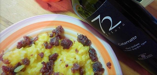 Zucca e salama da sugo per un risotto particolare
