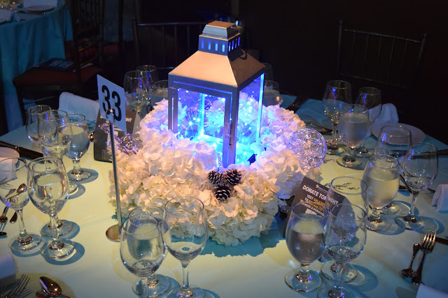 winter flowers, winter centerpiece, winter decor, hydrangea, lantern centerpiece