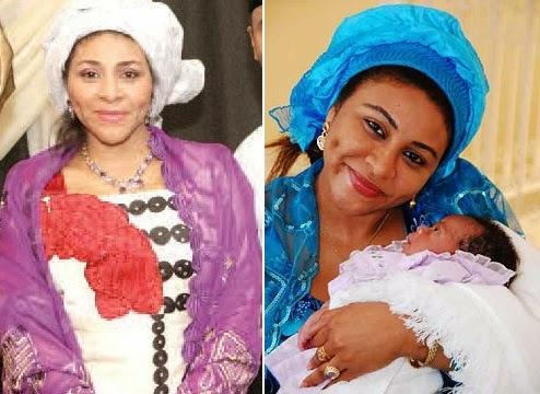 abacha daughter gives birth