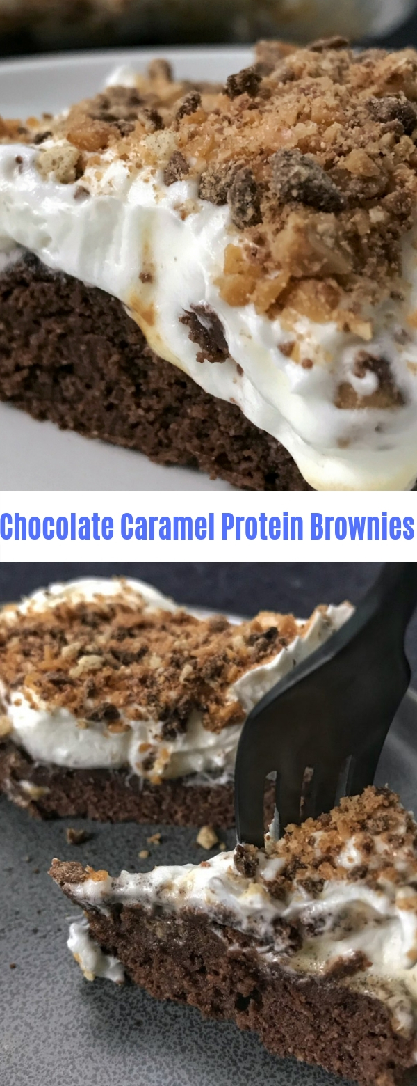 Chocolate Caramel Protein Brownies
