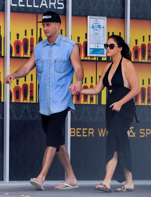 Vicky Pattison in Black Dress Out in Queensland