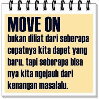 Gamabar dan kata-kata arti move on buat dp bbm