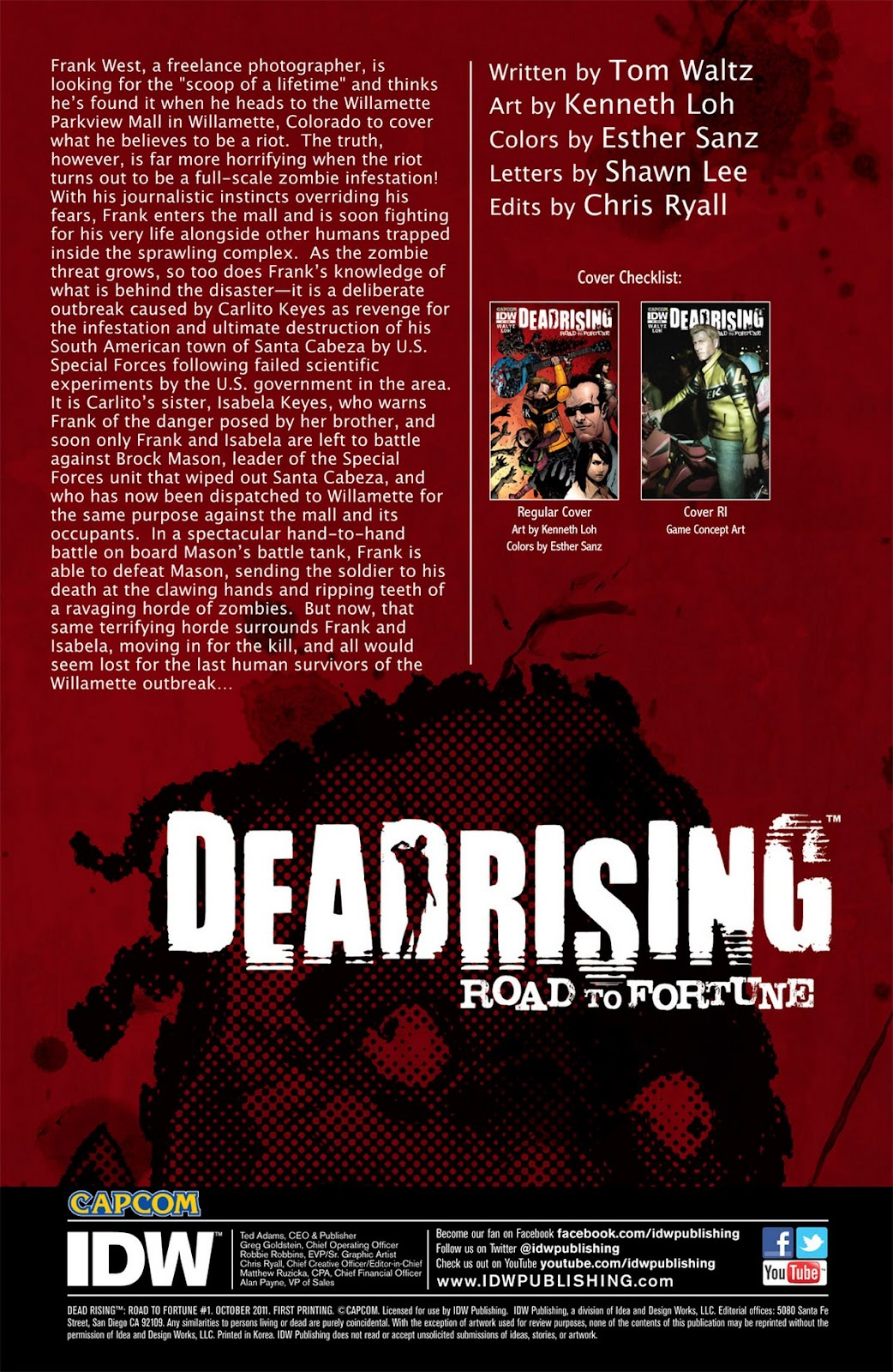 Read online Dead Rising: Road to Fortune comic -  Issue #1 - 3
