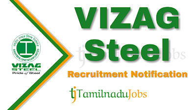 VIZAG Steel recruitment 2020, VIZAG Steel Notification 2020, govt jobs in India