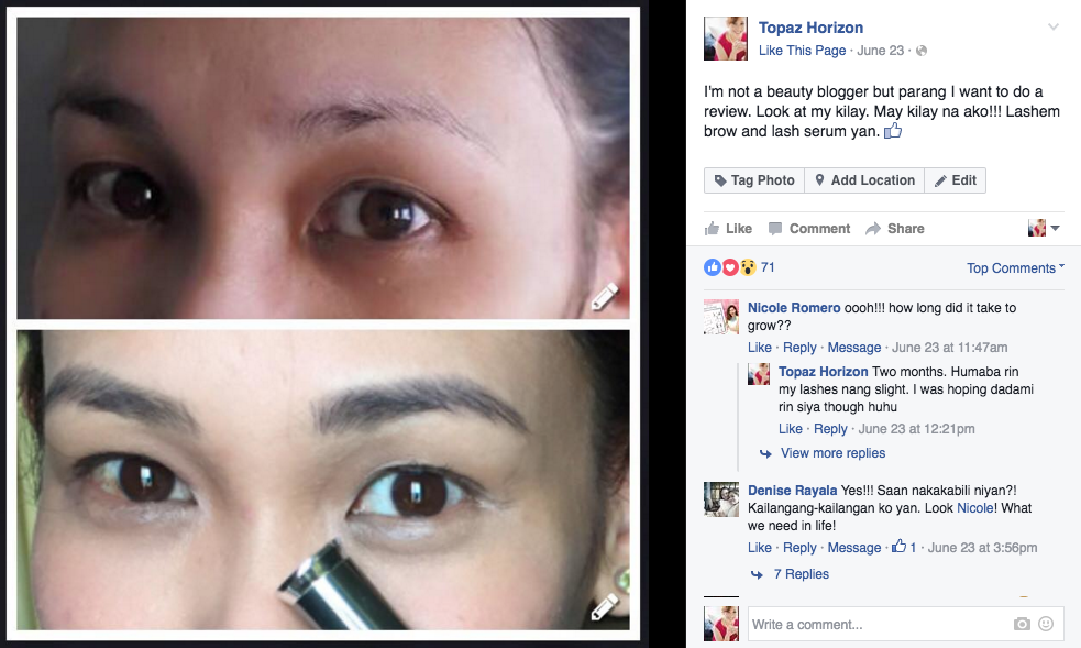 Topaz Horizon Review Lashem Lash And Brow Serum Mascara And