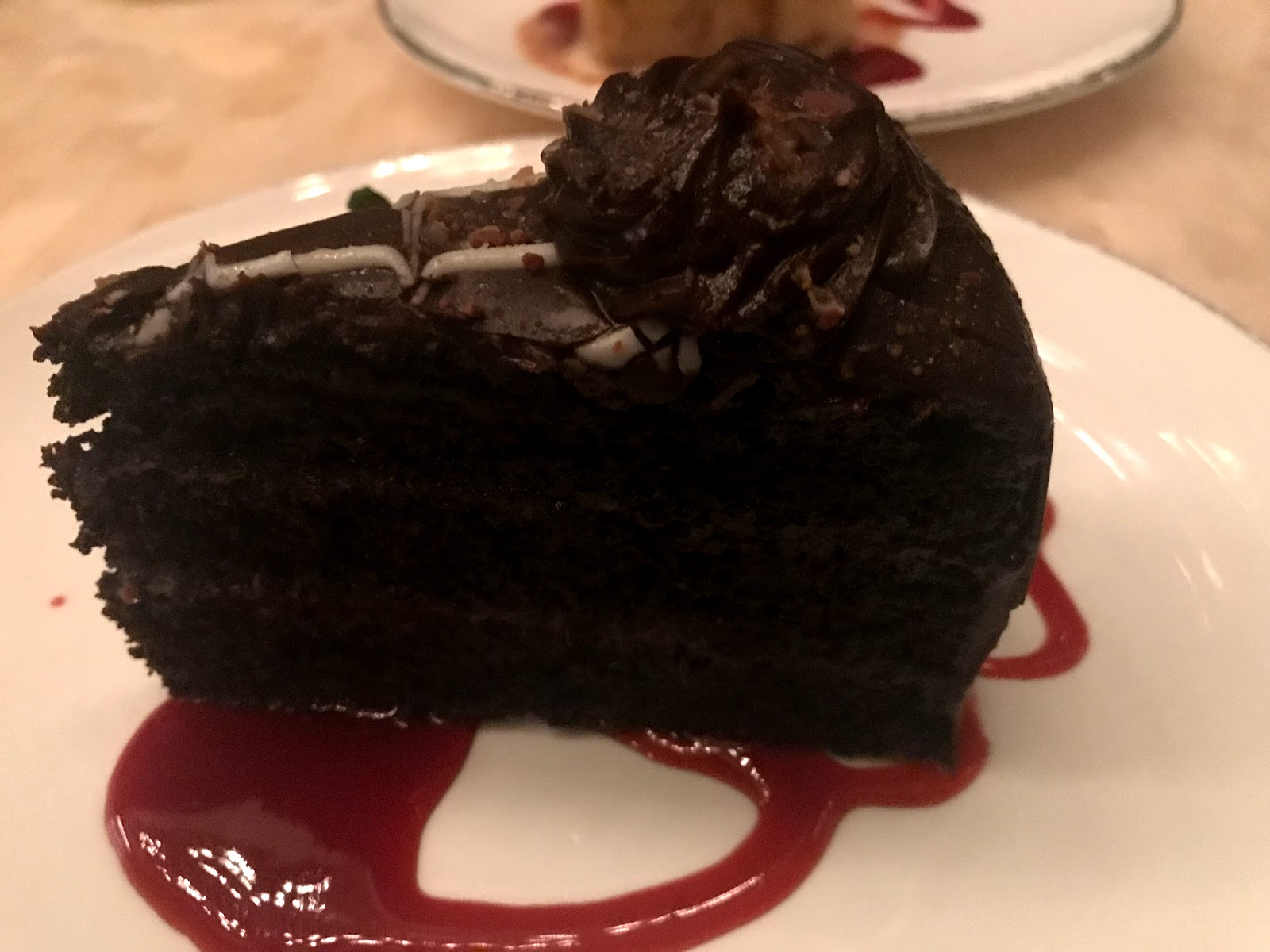 Image: Chocolate cake at Jimmy's Seafood and Steakhouse:We chose to eat and drink something a little light. But I was happy with my decision, after ordering a chocolate ganache cake.