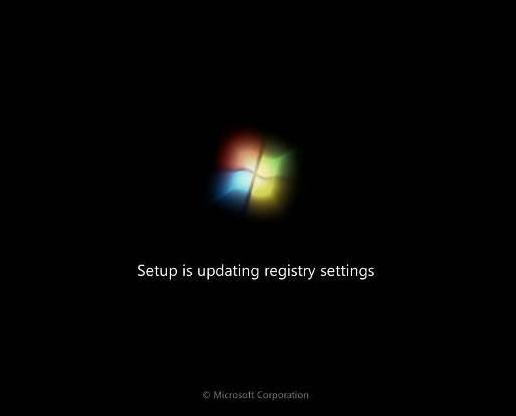 langkah 18: cara instal windows 7, update registry setting