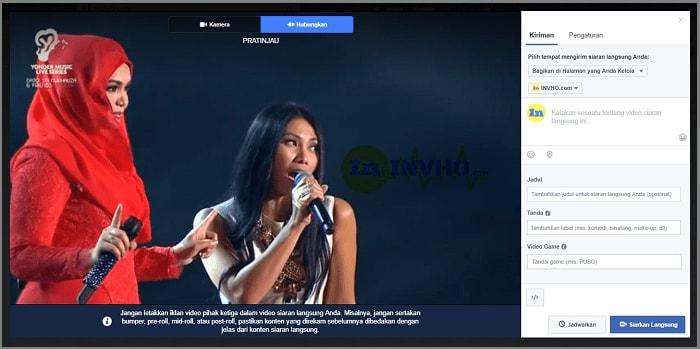 Cara Live Streaming di Halaman Facebook Dengan OBS Studio
