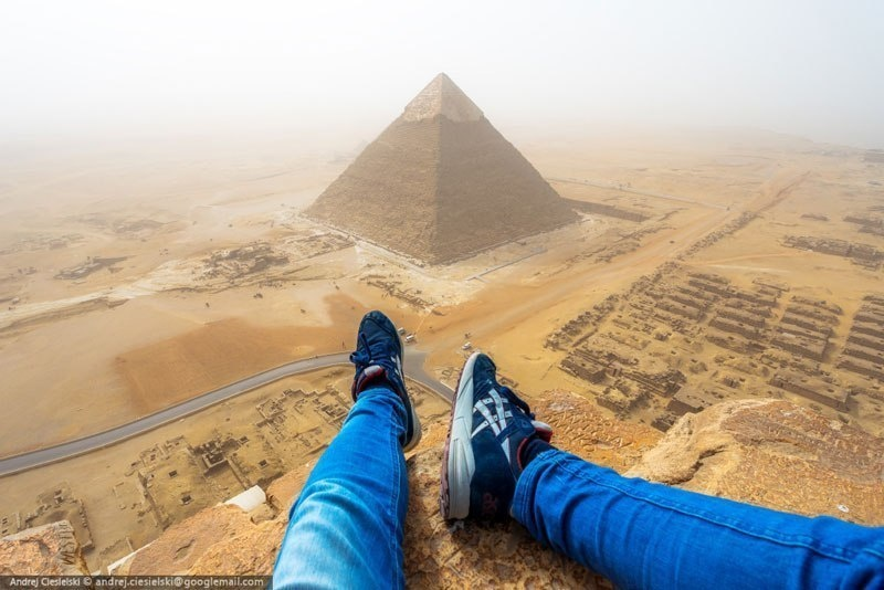 He Illegally Climbed One Of The Pyramids… And Filmed The Whole Thing.