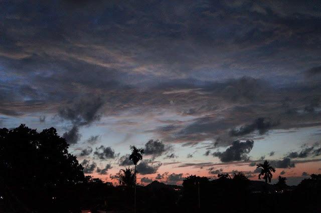 Palau; wyspy; raj; heaven; islands; sunset; palms; palmy; zachód; niebo; sky