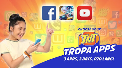 TNT Choose Your Tropa Apps : 3 Apps, 3 Days, for only 20 Pesos!