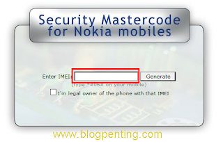 Master Code for nokia