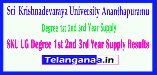 SKU UG Sri Krishnadevaraya University Degree 1st 2nd 3rd Year
