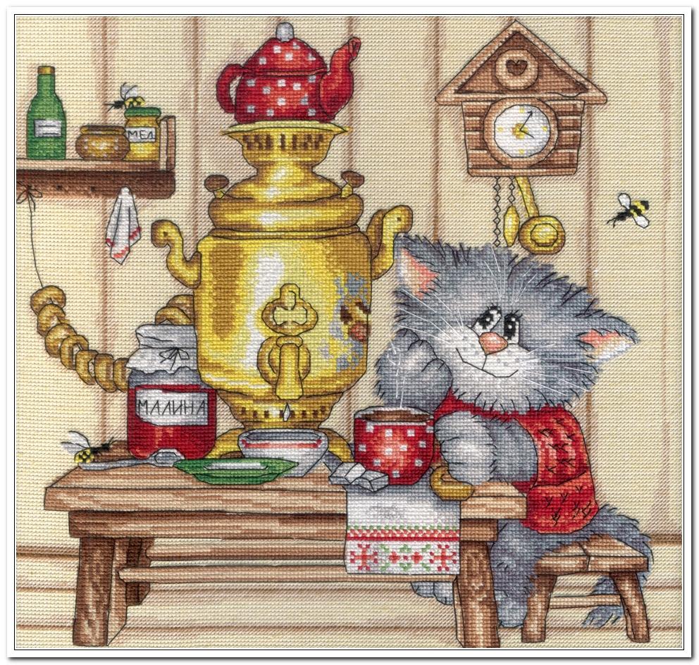 Скачать схема вышивка чаепитие