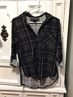 Poly & Esther Dark Green Plaid Shirt