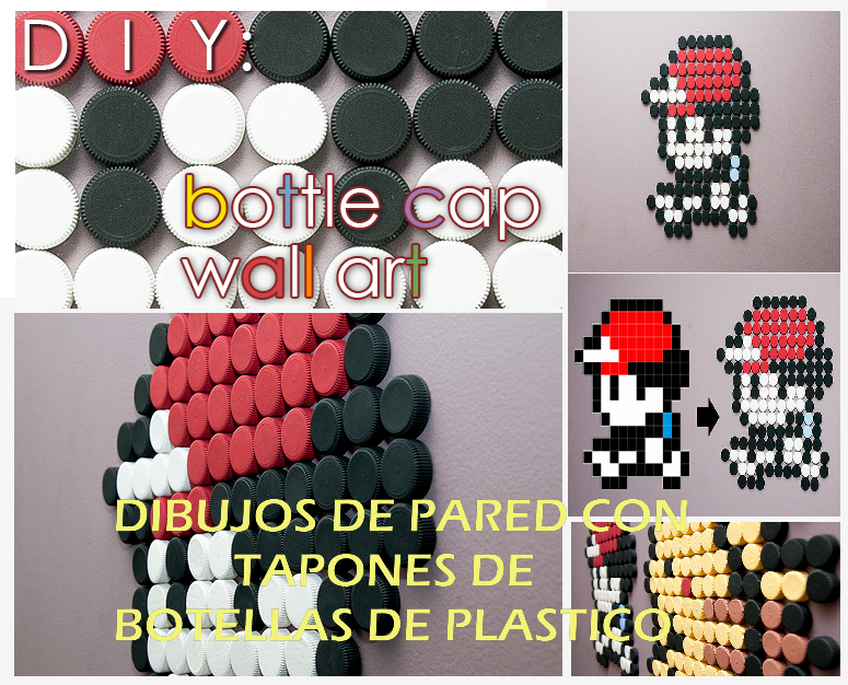 Diy Dibujos de Pared con Tapones de Botellas