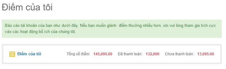 Proof kiếm tiền online của 123itvn