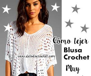 Cómo Tejer Blusa Crochet Muy Fácil / Paso a paso