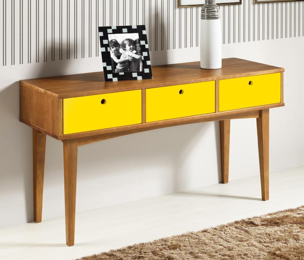 Aparador Retro Mdf Amarelo ~ Construindo Minha Casa Clean Móveis de Decoraç u00e3o para