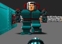 Imagem do chefão do Wolfenstein 3D: o Mecha Hitler.
