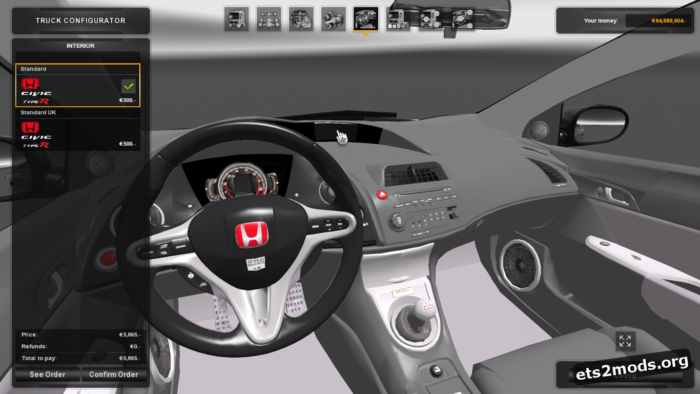 Car – Honda Civic type R V 2