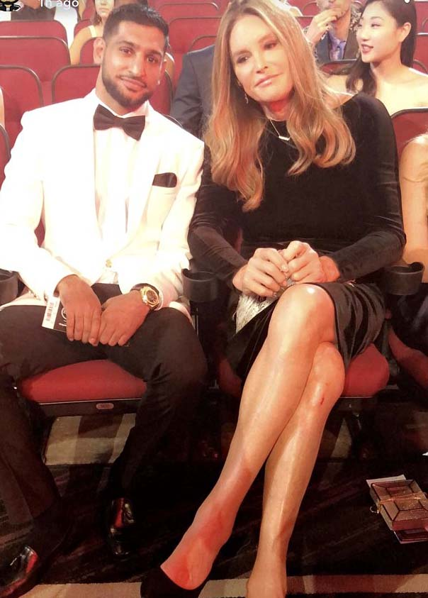 Amir Khan is accused of 'transphobia' as he calls Caitlyn Jenner 'Bruce'