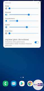 Samsung Android 10 Regulacja głośności