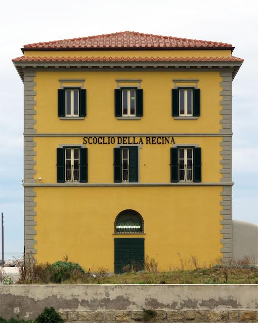Old building of the Scoglio della Regina (Queen's Rock), Viale Italia, Livorno