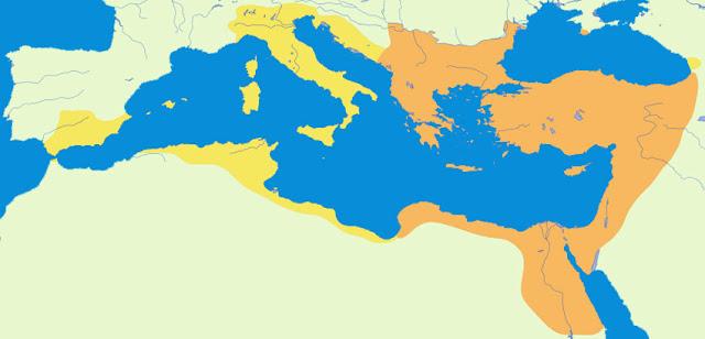 Gambar Peta wilayah Kekaisaran Bizantium