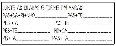 5 Atividades trabalhando sílabas complexas letra P