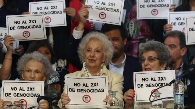 Argentina aprueba ley contra alivios a presos por lesa humanidad