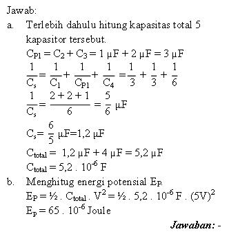 Pembahasan soal energi potensial kapasitor