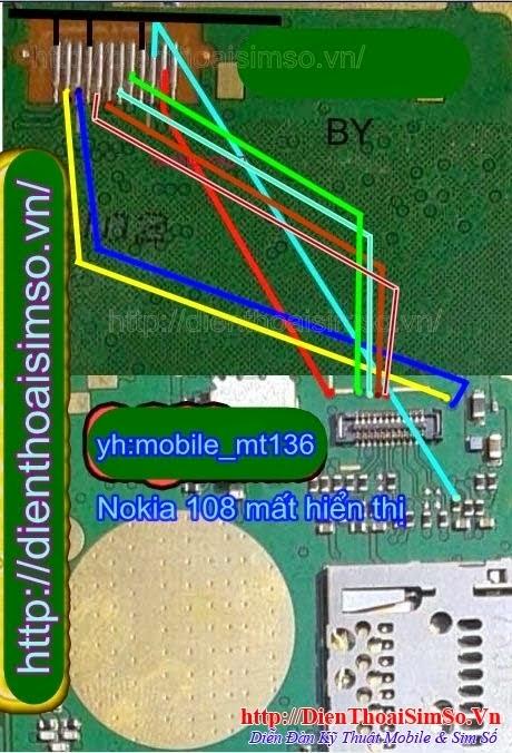 Nokia 108 mất hiển thị đèn