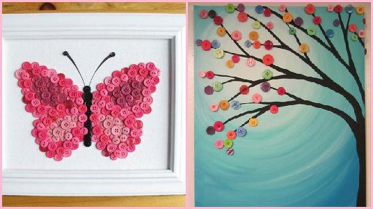 Cuadros decorativos cuadros decorativos cuadros - Como hacer cuadros con botones ...