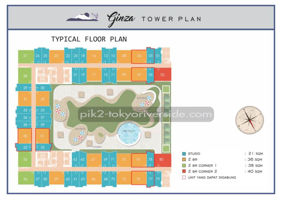 Site Plan Tokyo Riverside Apartment