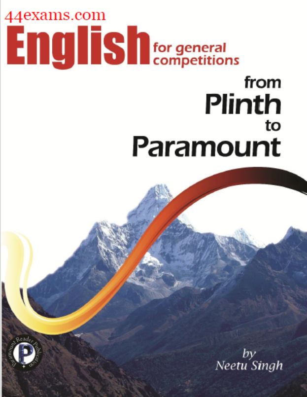 Paramount English By Neetu Singh : For All Competitive Exam PDF Book