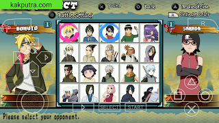 [150 MB] Game Boruto Next Generations PPSSPP Offline di Android